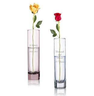 Monogrammed Bud Vase