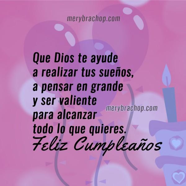 Imágenes cristianas con saludos de cumpleaños cortos y bonitos para amigos del facebook, hijo, hija, hermanos por Mery Bracho