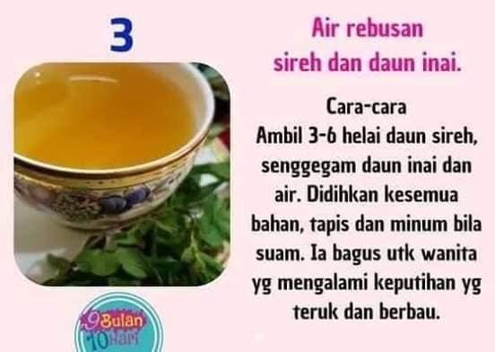 Resepi Air Rebusan Bagus Untuk Kesihatan Wanita