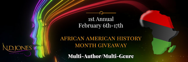Banner Ad for African American History Month Giveaway