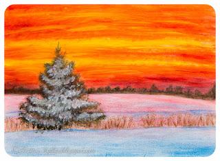 Kaunis talvine loojang