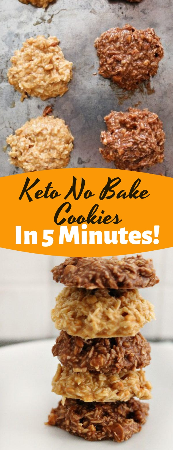 Keto No Bake Cookies In 5 Minutes! #keto #cookies