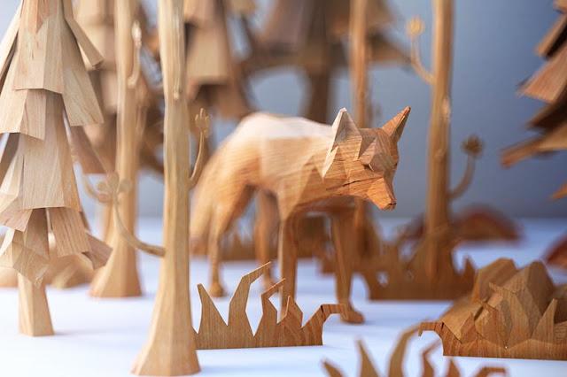 Belas esculturas de madeira por por Matt Szulik