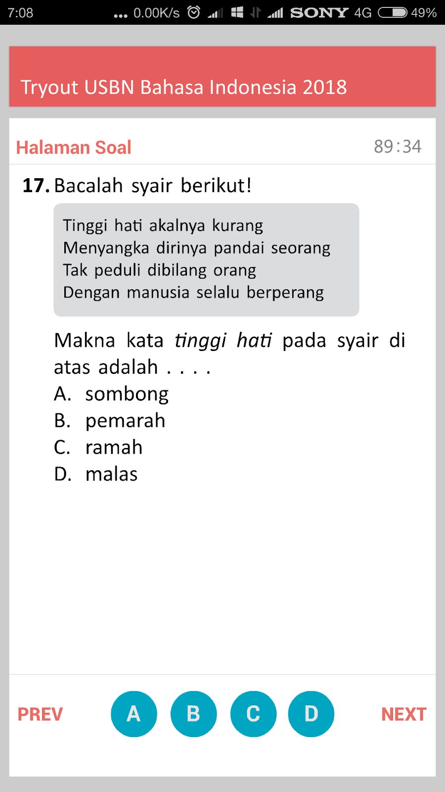 Download Aplikasi Android Try Out Usbn Bahasa Indonesia Sd Mi Tahun 2018 Rief Awa Blog