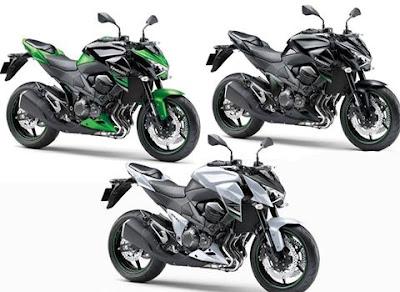 Kawasaki Z800 three-colours