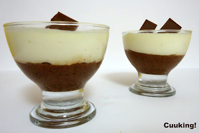Copa mousse dos chocolates
