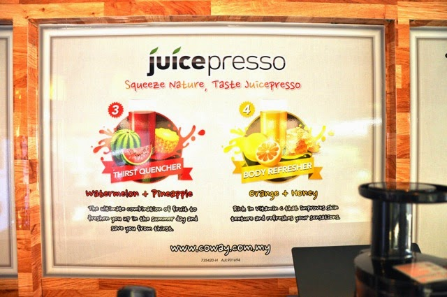 Some of the fruits that can be squeezed using the Coway Juicepresso
