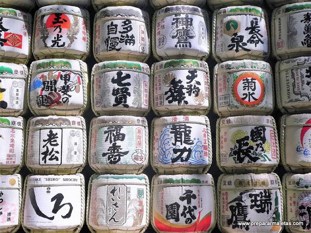 barril sake santuario meiji Tokio