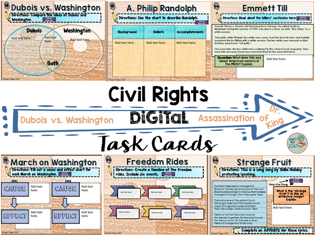 Digital task cards are great, but just like more traditional teaching methods, they can become stale and old when used too frequently. In this post I describe how I switch up my digital task cards to make them more interesting for students. Be sure to read the post and chime in with how you update your content mid-year to keep it fresh for students!