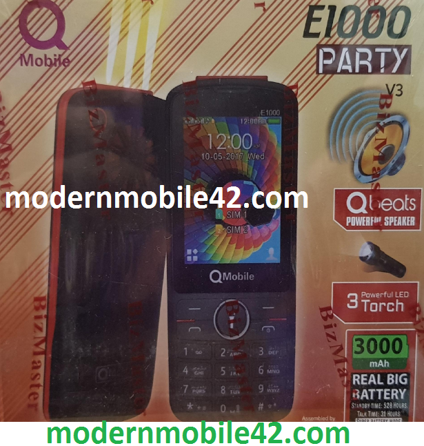 qmobile e1000 party flash file miracle box
