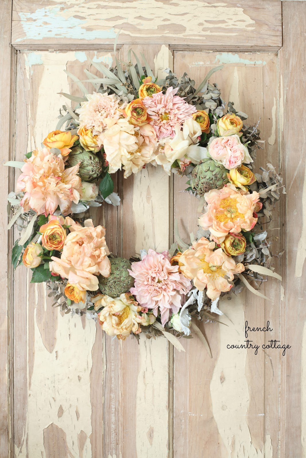 Simple charm with a french autumn inspired fresh flower for French country cottage decorating ideas