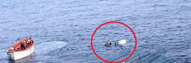 Fishing trawler sunk near Sazan, 4 fishermen are rescued after 6 hours in the sea by ferry line