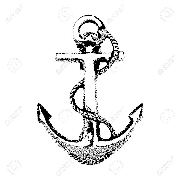 Hand Drawn Illustration Of Old Anchor Vector Stock Vector