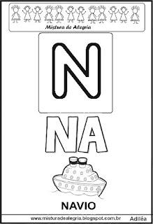 Cartaz das famílias silábicas do N