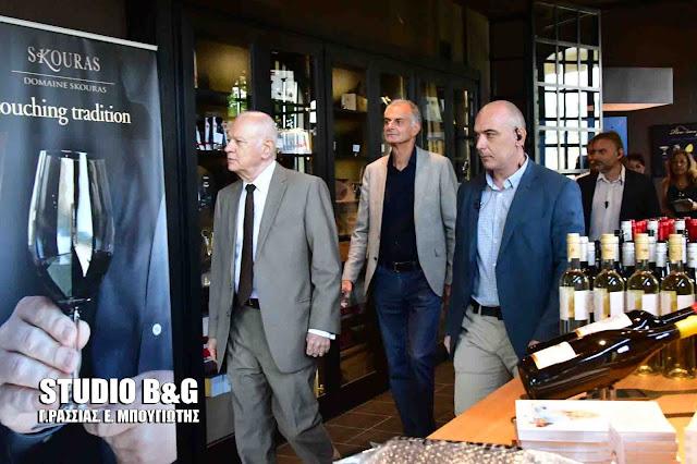 Σε εξέλιξη η επίσκεψη του Υπουργού Οικονομίας και Ανάπτυξης Δ.Παπαδημητρίου στην Αργολίδα (βίντεο)