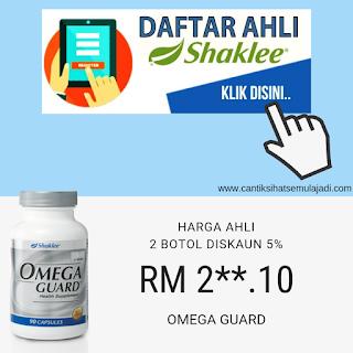 Daftar ahli Shaklee beli online Omega Guard minyak ikan Shaklee