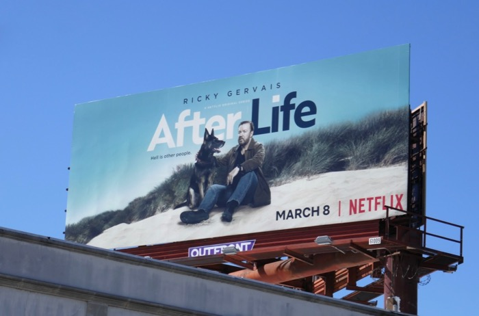 After Life season 1 billboard
