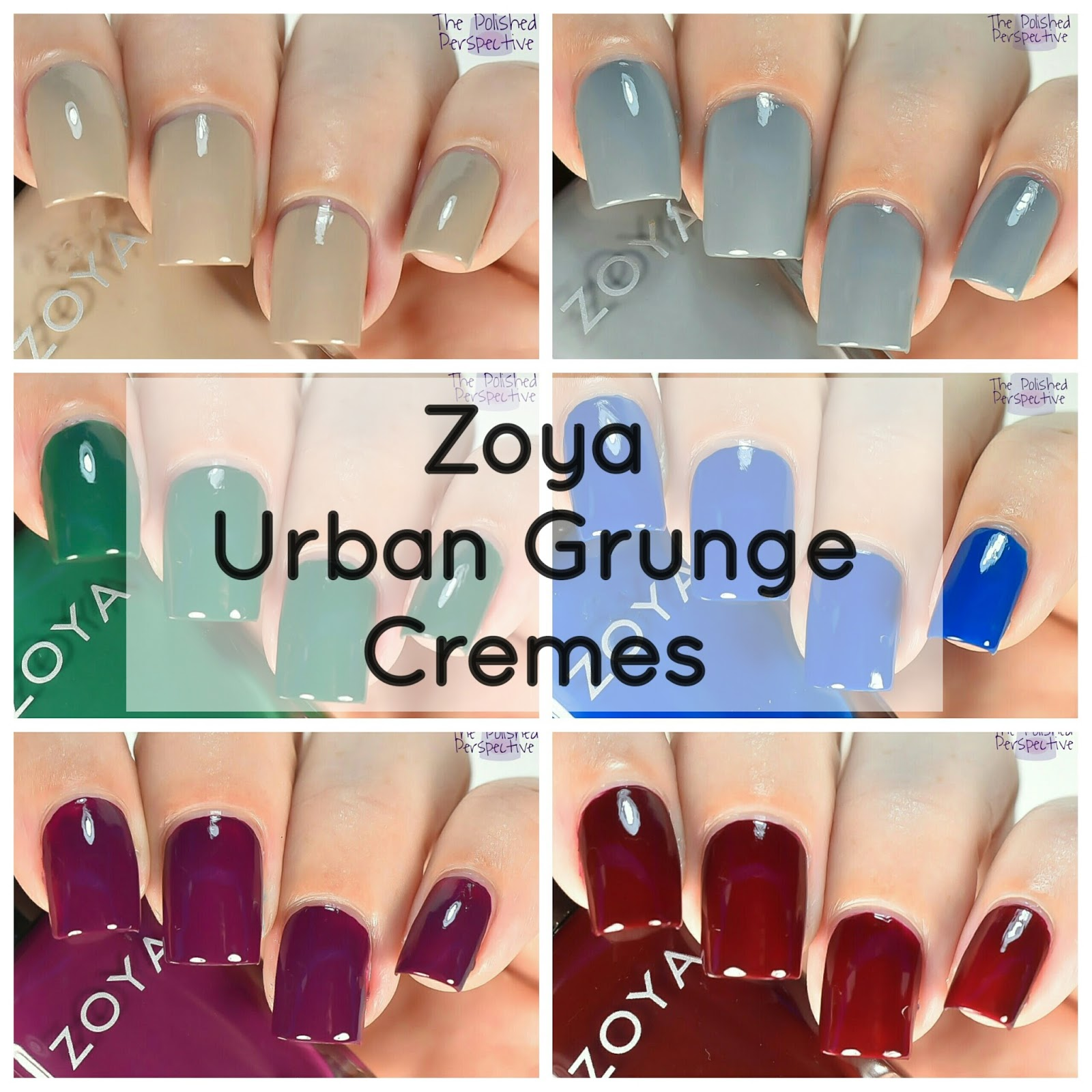 The Polished Perspective: Zoya Urban Grunge Creams: Review and ...