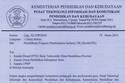 Pendaftaran Program Pembelajaran berbasis TIK (PembaTIK)