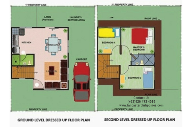 Floor Plan of Colleen - Lancaster New City Cavite | House and Lot for Sale Imus-General Trias Cavite
