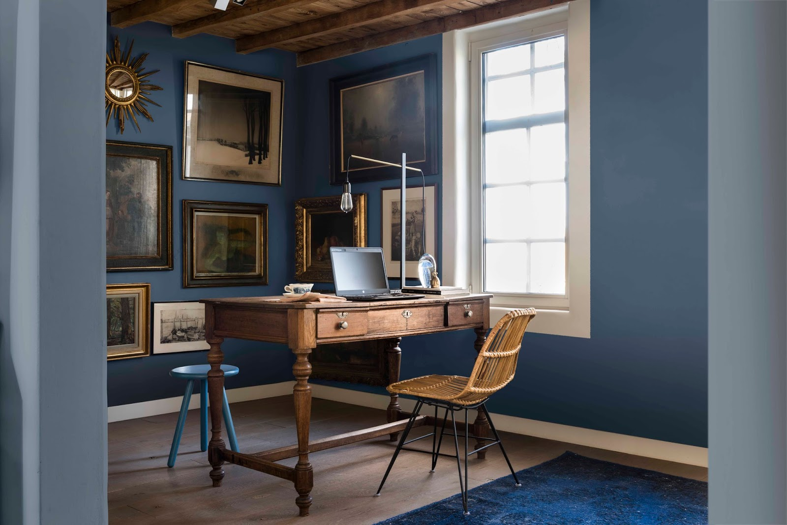 denim drift dulux 2017 colour of the year the white approach. Black Bedroom Furniture Sets. Home Design Ideas