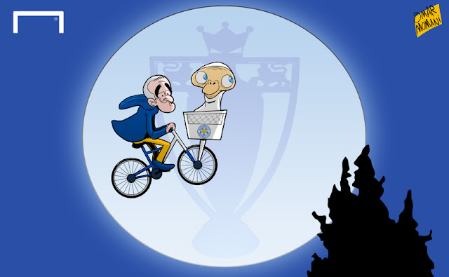Ranieri riding bide with E.T