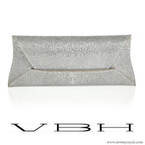 Crown Princess Mette-Marit style VBH Manila Stretch Stingray Envelope Clutch