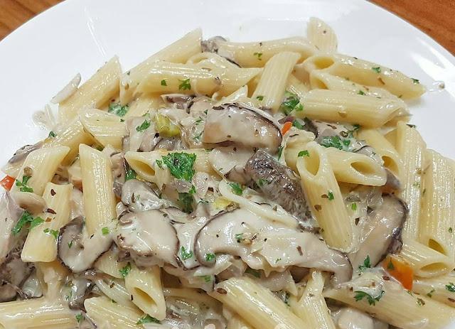masakan mushroom , masakan westren , saus pasta , pasta enak , makanan enak