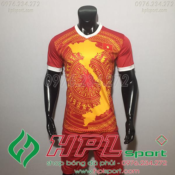 Áo bóng đá đội tuyển Việt Nam bản đồ  2019