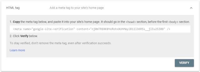 Cara Mendaftarkan Dan Verifikasi Blog Di Google Webmaster Tools