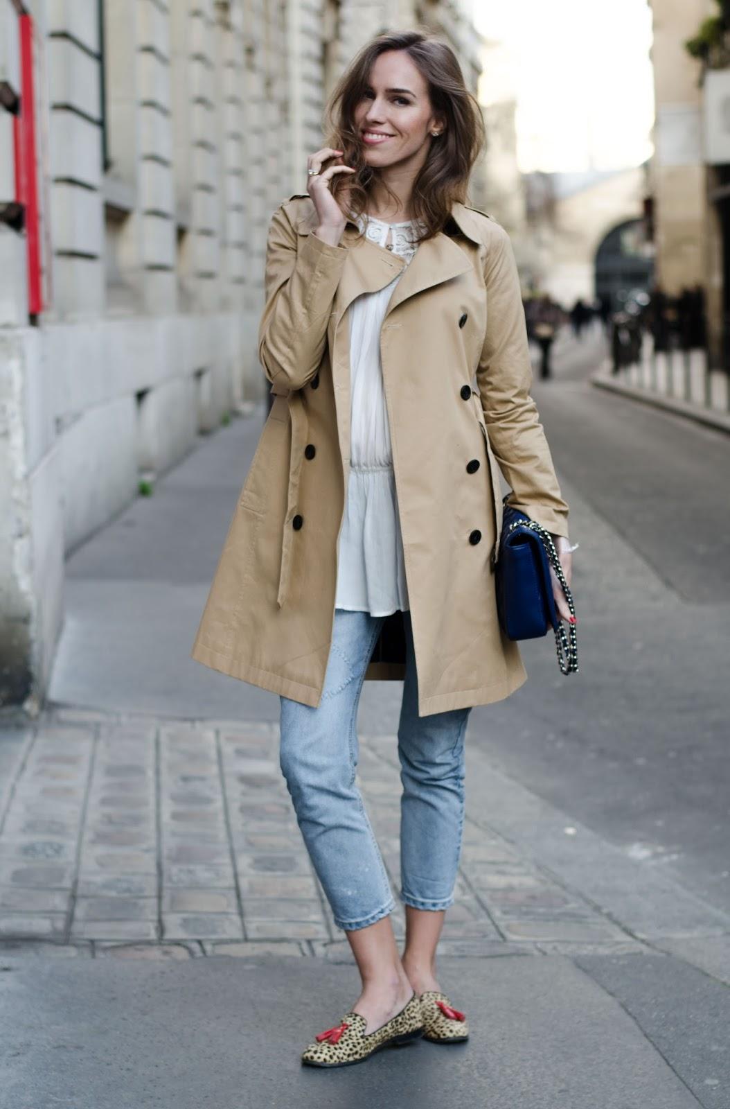 kristjaana mere paris spring 2016 street style trench coat