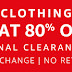 FINAL CLEARANCE SALE ON AMAZON ! FLAT 80% OFF IN CLOTHING