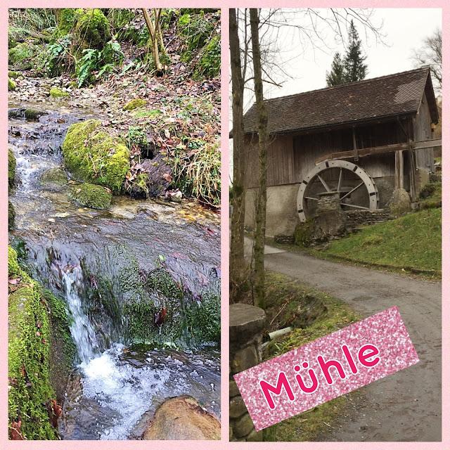Dorfbach und Mühle