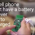 This cell phone is powered by ambient light