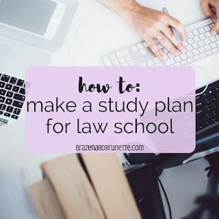 how I come up with a plan on what I need to read for law school. law school studying. law school study plan. law student study plan. law school reading plan. law school scheduling. law school advice. law student tips. law school blog. law student blog. law school blogger. law student blog | brazenandbrunette.com