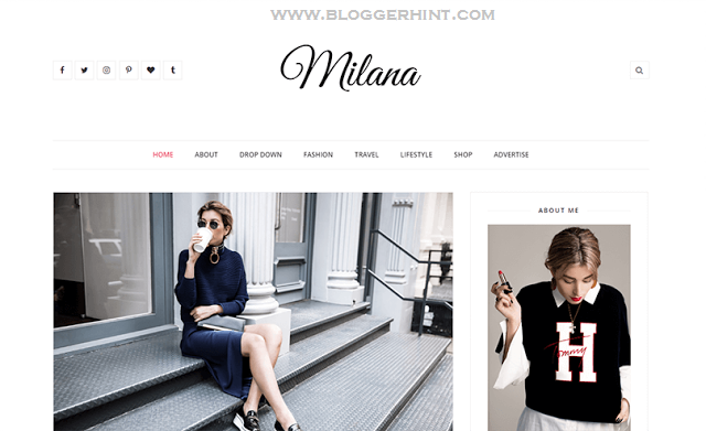 Milana Blogger Template