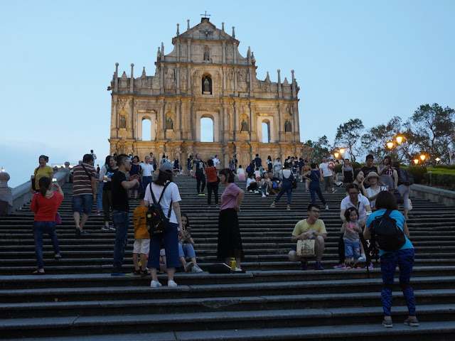 Ruins of St. Paul's in Macau in the early evening