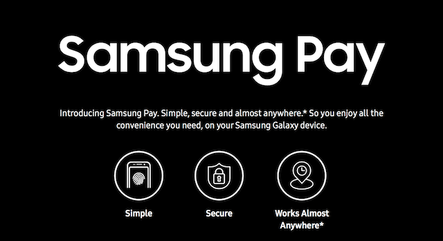 Samsung Pay uses a new proprietary technology called Magnetic Secure Transmission (MST) and Near Field Communication (NFC)