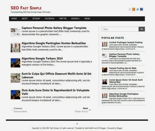 Template Blog SEO Simple Clean Minimalis