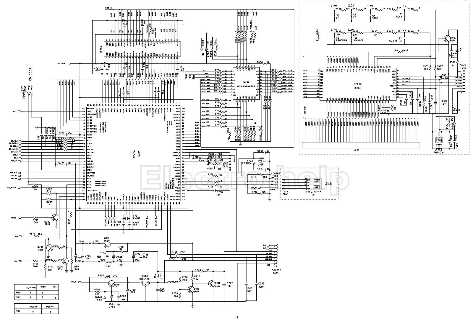 Toshiba Tr Mu I Am Fm Raido Cd Mp3 Schematic