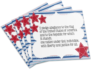 Want your own Pledge of Allegiance sign?