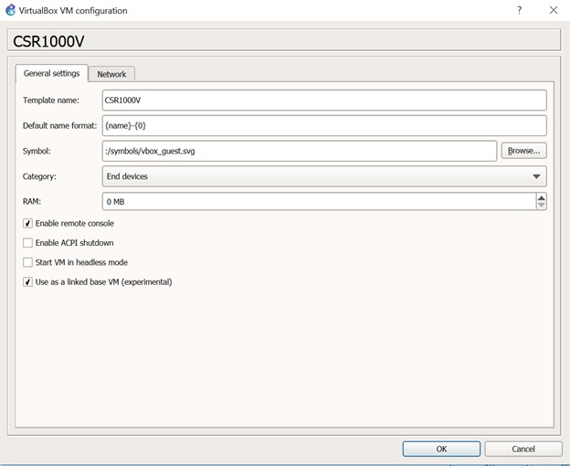 My Network Lab: Cisco CSR1000v in VirtualBox and GNS3