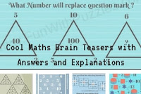Cool Maths Brain Teasers with Answers and Explanations