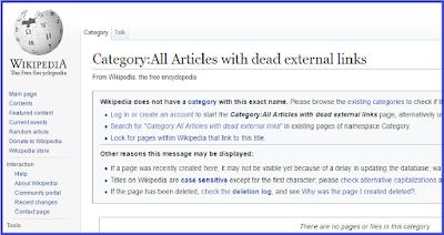 dead link wikipedia