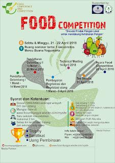 Lomba Food Competition 2018 by Univ. Mercu Buana Yogyakarta