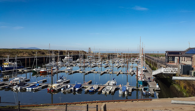 Photo of the view of the marina from our aft deck