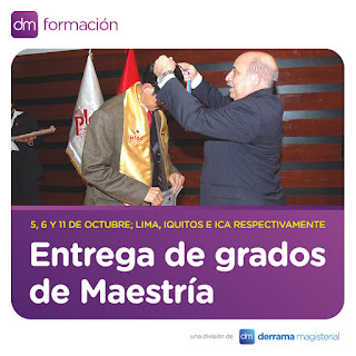 Se entregará grados académicos a los graduados de sus Maestrías Internacionales