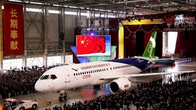 #ChinaPlanet : China hopes to rival Boeing and Airbus with the C919 super Jet !