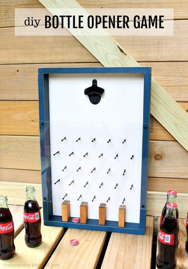 diy bottle opener game with lights