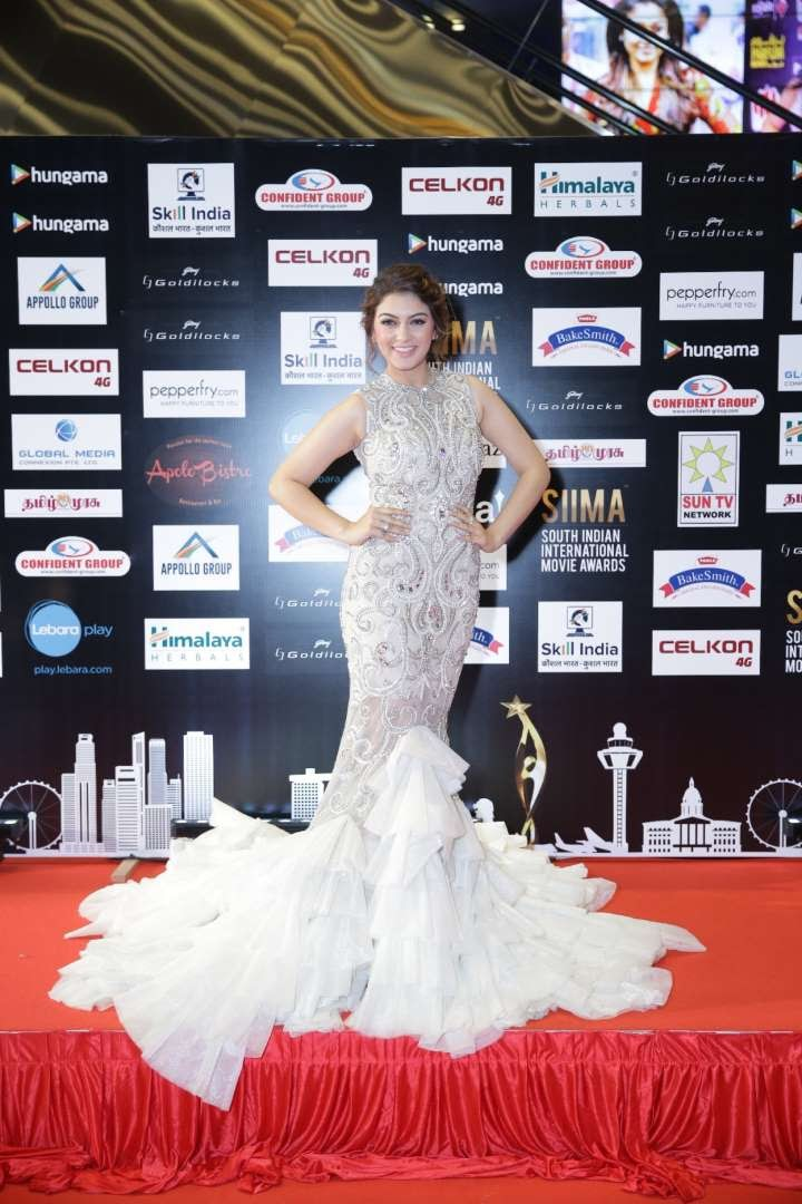 South Indian actress Hansika Motwani posted on Twitter And it was a spectacular show siima Take a bow BrindaPrasad n vishinduri you guys have nailed it truly  cheers